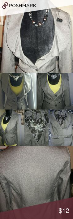 Light brown jacket Jacket is lined with a patterned lining and can be worn with a pair of jeans or for that office look add with a pair of trousers or a pencil skirt...Or why not make it flirty and add a flared skirt. Just a light way to keep warm and look hot! Maurices Jackets & Coats Jean Jackets