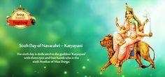 Sixth Day of #Navarathri  – Devi #Katyayani   The 6th Avathar of Mother Durga 'Katyayani' is adored on the six day of Navaratri, Durga Pooja. Know more about Devi Katyayani in the #blog.