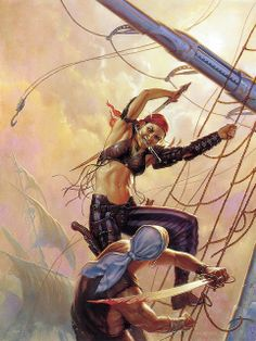 Todd Lockwood - Swashbuckler by myriac, via Flickr   Click through for a larger image