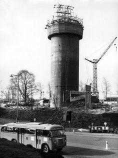 De bouw van de Euromast vordert met 5 meter per dag, Rotterdam 10 maart 1959.