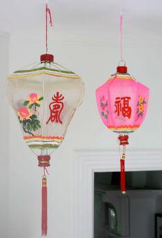 Pink and white Chinese lanterns