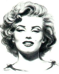 Marilyn Monroe Art  sketch