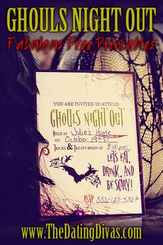 Love this fun girls-night-out with a Halloween Spa theme, so cute!!  FREE printables too!