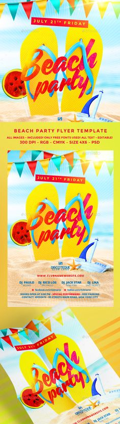 Summer PSD Flyer  Template • Only available here ➝ http://graphicriver.net/item/summer-flyer/16532667?ref=pxcr