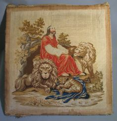 Berlin-woolwork-Daniel-the-Lions-Embroidery-English-circa-1880