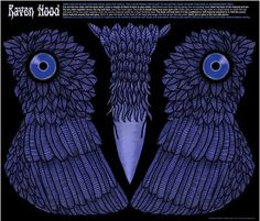Raven Hood, by elramsay on Spoonflower.   Me wants this bird for this bard!