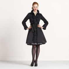 ruffled melissa trench by kate spade