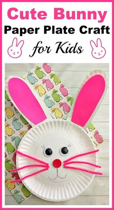 Cute Bunny Paper Plate Craft for Kids- Paper plate crafts are an inexpensive and fun way to keep kids busy! Great for a spring break actiity! |DIY spring craft, rabbit, Easter, kids craft, kids activity, easy craft #artsandcraftsforkids,