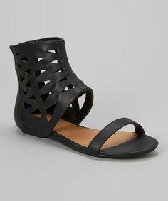 Look at this #zulilyfind! Black Dez Gladiator Sandal by Michael Antonio #zulilyfinds