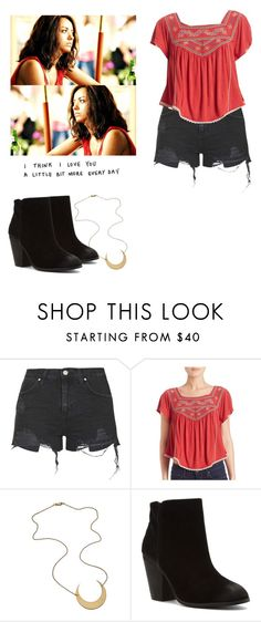 """""""Bonnie Bennett - tvd / the vampire diaries"""" by shadyannon ❤ liked on Polyvore featuring Topshop, Free People and Report"""