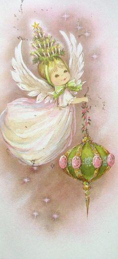 Pretty Vintage Angel Card