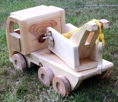 Handmade Wooden Toy Trucks, Easy Build Giant Wood Trucks , Tow Truck, Wreaker #odinstoyfactoy #handmade #handcrafted #woodentoys #toys #Tallahassee #Florida #trucks #truck #tow #wreaker