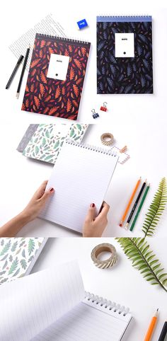 If top bound notebooks are your thing, then check out the My Rainbow Leaf B5 Notebook! This cutie is spiral bound and includes 180 college ruled pages with a perforated edge along the top. This makes it perfect for taking any kind of notes anywhere. It's perfect for school or work, so check it out~!