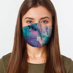 This mask covers your nose and mouth and is secured with elastic bands that wrap around the ears. There are 2 layers of fabric for added filtration. These are not substitutes for surgical or procedural masks and are not FDA cleared. Cheetah Face, Fashion Mask, Women's Fashion, Diy Face Mask, Face Masks, Winged Liner, Mask Making, Purple Flowers, At Least