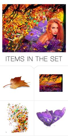 """QUEEN OF THE LEAF FARIES"" by louisevegasgirl ❤ liked on Polyvore featuring art"