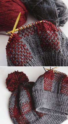 Knitting Patterns Free, Knit Patterns, Free Knitting, Knitting For Kids, Knitting Yarn, Yarn Projects, Knitting Projects, Knitted Headband, Knitted Hats