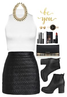 """""""Saturday night #BeYou"""" by silviarussi ❤ liked on Polyvore featuring WearAll, Boohoo, Burberry, Marc Jacobs, Surratt, NARS Cosmetics, Eddie Borgo and Marc by Marc Jacobs"""