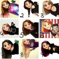 8 is my favorites Emo Disney, Disney Rapunzel, Disney Memes, Cute Disney, Disney Stuff, Pretty Drawings, Art Drawings Sketches, Disney Drawings, Teen Titans