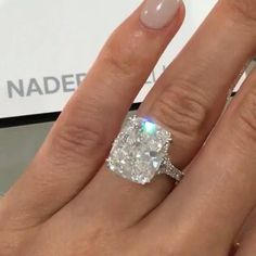 let me know if you like this I THINK I AM SWITCHING TO TEAM #CUSHIONCRUSH !!!! A ten carat beauty!!!! From @naderjewellers  I am totally in love.... But then... We all know I am a fickle lover!!! Brilliant work @naderjewellers  -the_diamonds_girl
