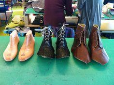 Boots in progress