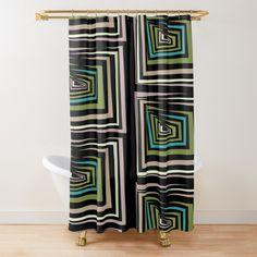 Shower Curtains, Tub, Abstract, Color, Design, Summary, Bathtubs, Colour