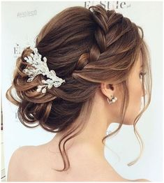 Beautiful braided Updos Wedding hairstyle to inspire you - This stunning wedding hairstyle for long hair is perfect for wedding day,Wedding Hairstyle ideas #StylishBraidStyles #StylishBraid click now to see more...