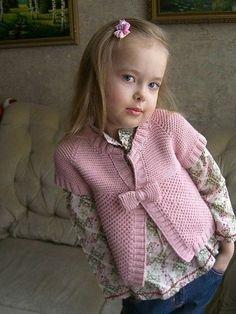 Вязание для девочки кардигана |