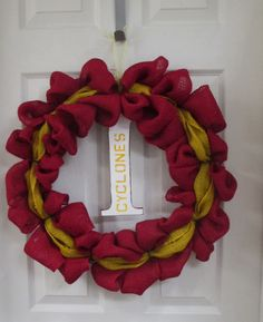 Love this Iowa State burlap wreath
