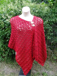 #Crochet Womens Easy Poncho Shawl #TUTORIAL