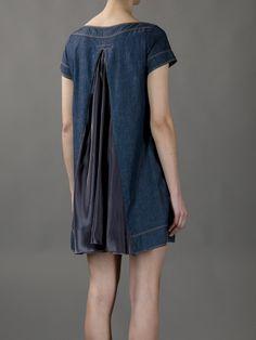 Sacai Rear Pleat Denim Dress in Blue (denim) | Lyst