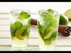 Traditional mojito: tablespoons tightly packed fresh mint leaves 1 small lime, cut into 4 wedges cup light rum 4 tablespoons sugar 1 cups small ice cubes cup club soda Additional fresh mint leaves Refreshing Drinks, Summer Drinks, Cocktail Drinks, Fun Drinks, Cold Drinks, Beverages, Cocktails, Quesadilla, How To Make Mojitos