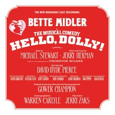 Masterworks Broadway proudly announces the release of The New Broadway Cast Recording of Hello, Dolly! starring three-time Grammy Award-winning legend Bette Midler as Dolly Gallagher Levi. Produced by multiple-Grammy Award® winner Steven Epstein, with a cast of 37 and 28 musicians, the album will be released May 12, 2017 and is available for preorder now.