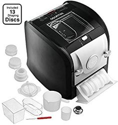 (affiliate) Gourmia GPM630 One Touch Automatic Pasta Maker - Mixes, Kneads & Extrudes -13 Shaping Discs, Makes 1LB Spaghetti, Macaroni, Fettuccine Lasgna & More Bonus Ravioli and Sausage Maker & Free Recipe Book