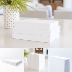 White Books, Custom Book, Stage Set, Modern Materials, Color Of The Year, Clean Design, Decoration, Room Decor, Interior Design