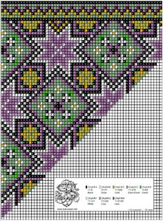 Loom Beading, Beading Patterns, Cross Stitch Designs, Cross Stitch Patterns, Palestinian Embroidery, Sampler Quilts, Bead Crochet Rope, Chicken Scratch, Chart Design