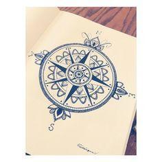 photos tattoo boussole dessin tatouages pinterest mandalas fleurs et rose des vents. Black Bedroom Furniture Sets. Home Design Ideas