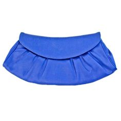 Céline Blue Satin Clutch | Brilliantly Blue | A stunning jewel tone blue clutch from Céline never goes out of style. Take it to a cocktail party as a stand out piece or carry it to contrast a bright orange hue. On consignment at Vault33.