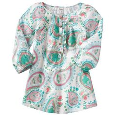 Old Navy Girls Paisley Pullon Tops (58 BRL) ❤ liked on Polyvore featuring girls