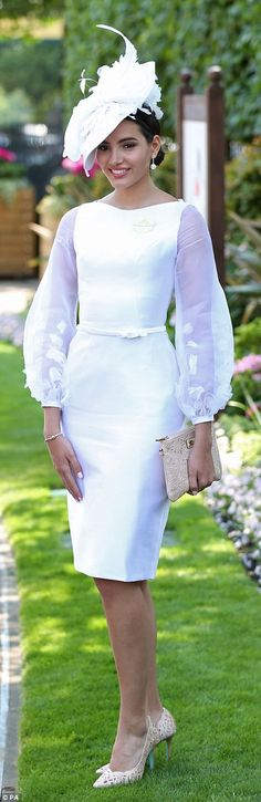 A lady in white was stunning in one of the day's more pared back looks