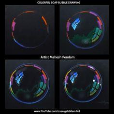 Mahesh Pendam: Soap Bubble Drawing - Time Lapse - Drawing Phases Mahesh Pendam: Soap Bubble D Digital Painting Tutorials, Digital Art Tutorial, Art Tutorials, Concept Art Tutorial, Bubble Drawing, Bubble Painting, Bubble Art, Black Paper Drawing, Soap Bubbles