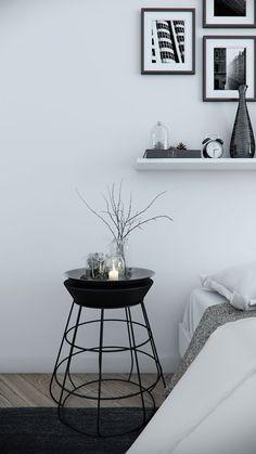 Dormitorios en gris, blanco y negro... ¡con diferentes estilos!
