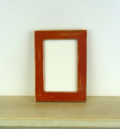 Rustic hand finished milk paint picture frame  by SmithWoodcraft, $16.00