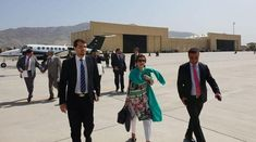 Foreign Secretary Tehmina Janjua arrived in Kabul on Sunday with a delegation for the inaugural session of the Afghanistan-Pakist. Geo Tv, Geo News, Secretary, Afghanistan, Pakistani, Sunday, Action, Peace, Domingo