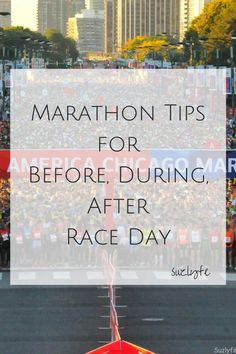 Running a marathon? Get marathon guides for 4 of the most popular marathons as well as advice for before, during, and after your marathon. http://suzlyfe.com/marathon-race-day-tips-running-coaches-corner-30