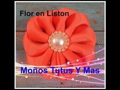 Como hacer FLORES DOBLANDO LISTON Paso a Paso FLOWERS FOLDING RIBBON Tutorial…