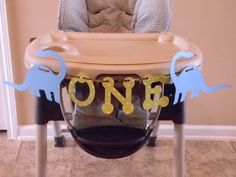 Dinosaur High chair banner