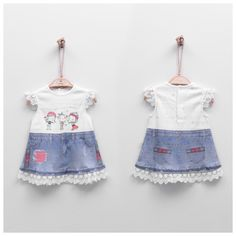 Baby Girl Digital Printed Denim Dress with Naughty Fairies Printed Denim, Comfortable Outfits, Fairies, Digital Prints, Organic Cotton, Girl Outfits, 3d, Summer Dresses, Baby