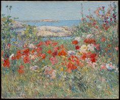 "Childe Hassam ""Ogród Celii Thaxter, Wyspy Shoals, Maine"" (1890)/ Met Museum"