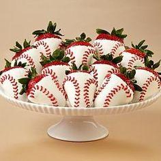Baseball strawberries http://www.pinterestbest.net/Cheesecake-Factory-Gift-Card