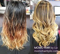 What a change! Ombre Highlights, Hair Color Balayage, Best Hair Salon, Perms, Cool Hair Color, You Are Beautiful, Brown And Grey, Pink Purple, Cool Hairstyles